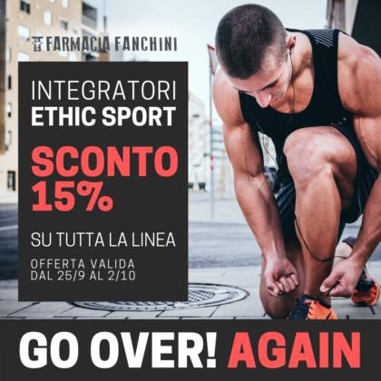 Promozione sconto 15 % sconto Ethic Sport
